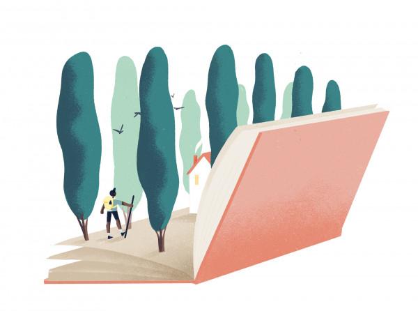 Bestemming: bib 2021 afbeelding bos in een boek