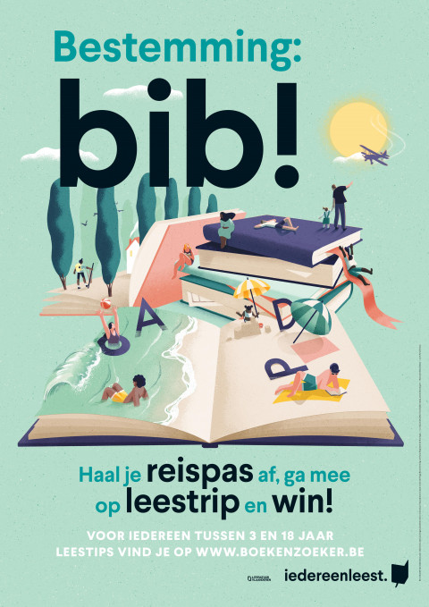 Bestemming Bib affiche © Eleni Debo | Iedereen Leest