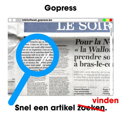 GoPress krantenarchief zoeken